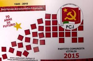 La tessera del partito Comunista d'Italia