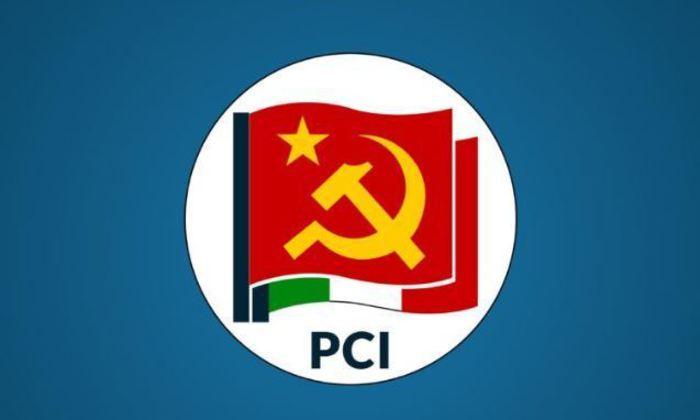 PCI, nuovo partito comunista d'Italia, la bandiera e simbolo
